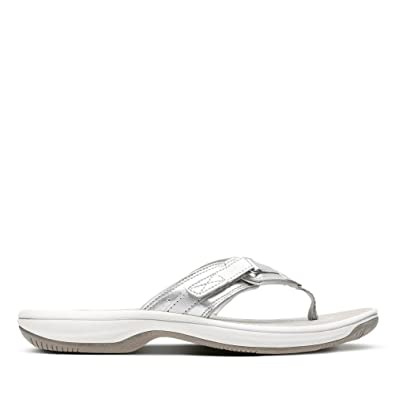 418e53e0b105 Clarks Brinkley Sea Synthetic Sandals in Silver Standard Fit Size 6 ...