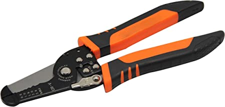 8 Inch Wire Stripper Electrician Peeling Pliers Crimping Tool Plastic Handle