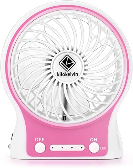 LETTON Mini Ventilador, Ventilador Portatil Bateria, Recargable ...
