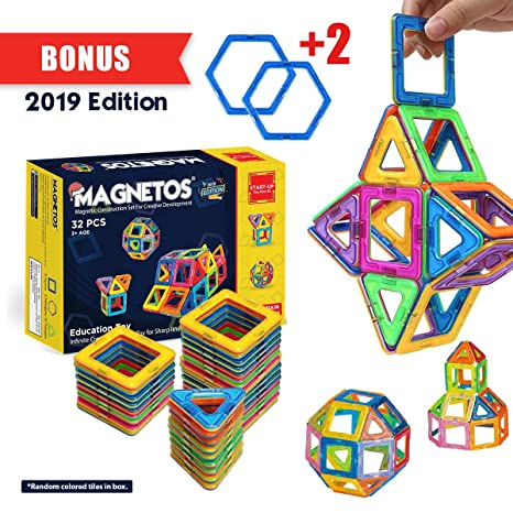 d41ec33f44b9 Amazon.com  MAGNETOS Magnetic Blocks Building Set for Kids