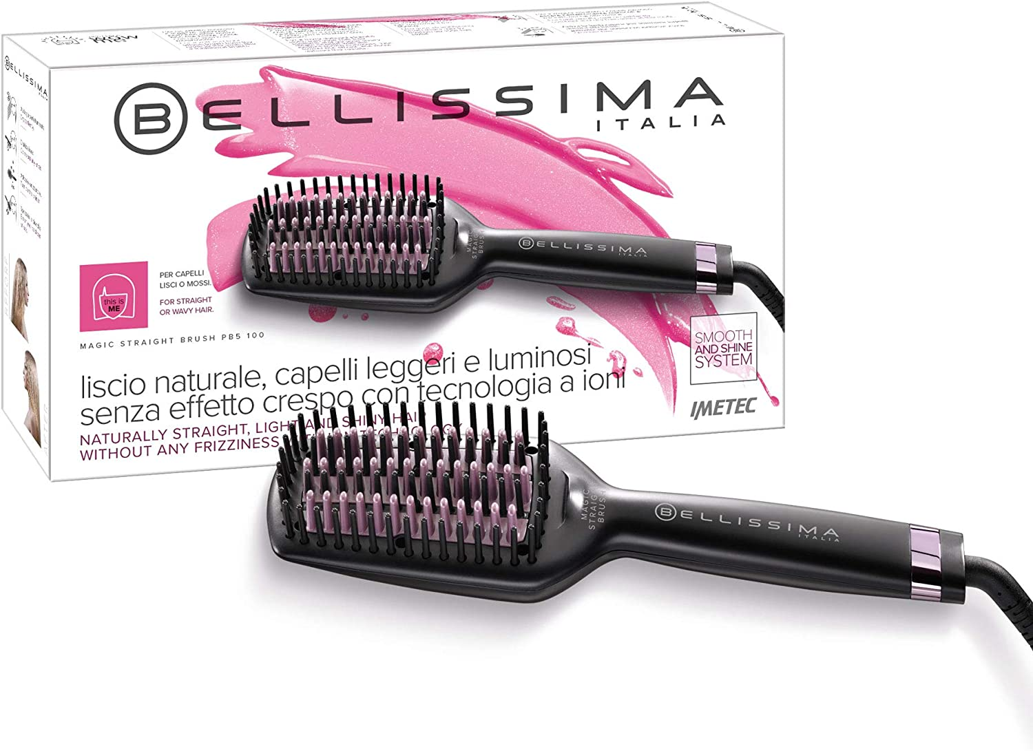 Imetec Bellissima Magic Straight Brush PB5 100 Cepillo Eléctrico ...