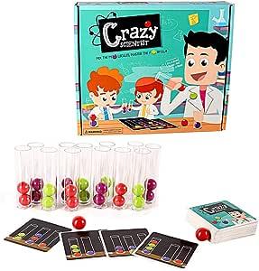 LCF GYGN Loco científico niños educativos Juguetes Partido Juego de Cartas de Escritorio: Amazon.es: Hogar