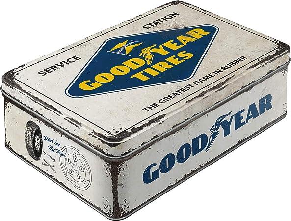 Nostalgic-Art 30745 Goodyear - Caja para galletas (metal, con tapa ...