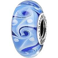 CHANGEABLE Charms Perles en Verre de Murano Femme Argent 925