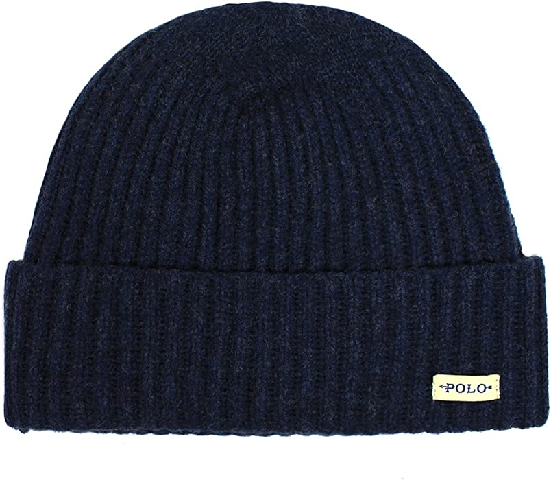 93653460a Amazon.com  Polo Ralph Lauren Men s Merino Wool Cuffed Beanie Cap ...