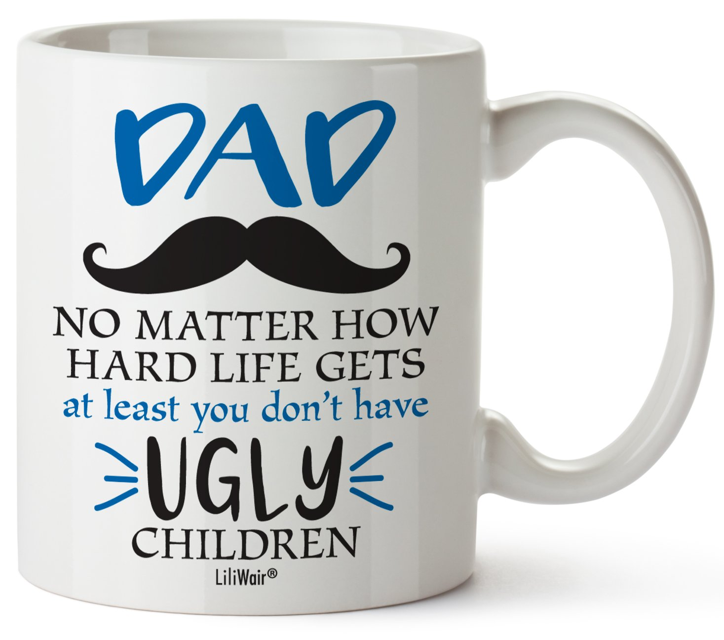 Fathers Day Gifts, Gifts For Dad From Daughter Son, Christmas Birthday Gift Coffee Mug, Best Cool Happy Funny First Mugs For Father, Daddy Stepdad Stepfather Bonus Step Dad's Presents Cup From Kids by LiliWair (Image #1)