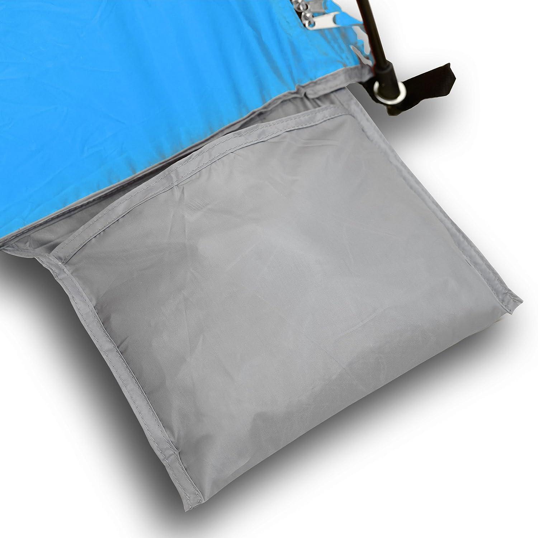 Strandmuschel Qeedo - Quick Palm mit UV-Schutz (UV80 nach UV-Standard kleines 801) - kleines UV-Standard Packmaß - schnell aufzubauender Sonnenschutz 2e1918