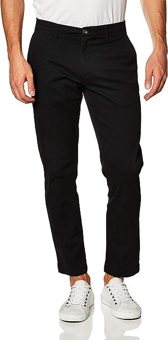 Essentials Men/'s Slim-Fit Casual Stretch Khaki, Size 32W x 28L Black