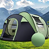 Pop Up Tent Weisshorn Camping Dome Tents for 5 Person Family Waterproof Cabin Beach Backpacking Picnic Tent Outdoor…