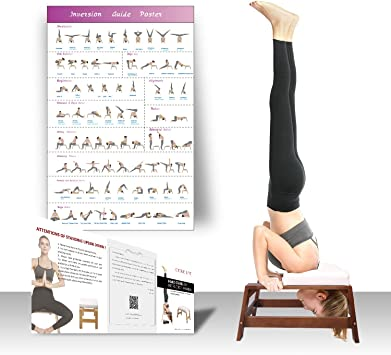 Amazon.com : Restrial Life Yoga Headstand Bench - Yoga ...