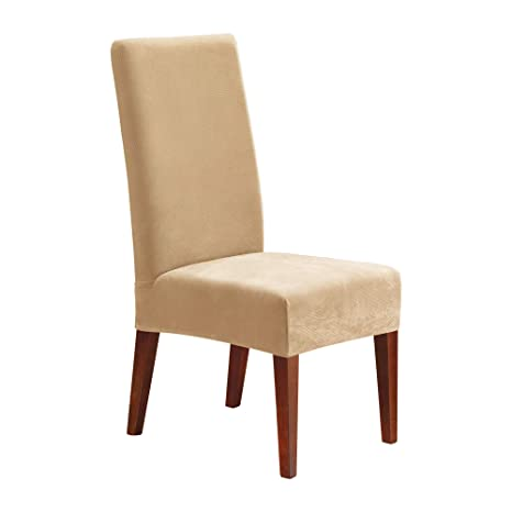 Incredible Surefit Stretch Pique Shorty Dining Room Chair Slipcover Cream Sf38682 Uwap Interior Chair Design Uwaporg