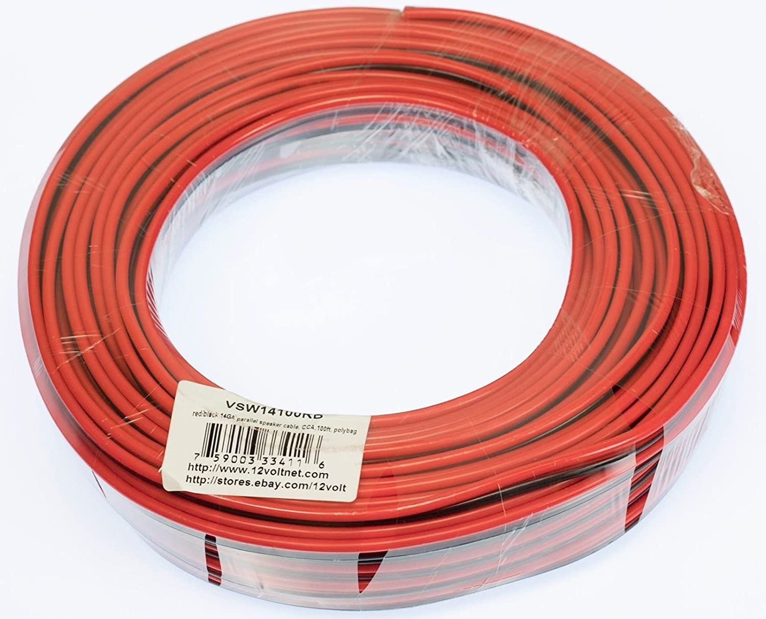VOODOO 16 AWG Gauge Speaker Wire Cable Car Home Audio Black /& Red Zip Wire 20 FT