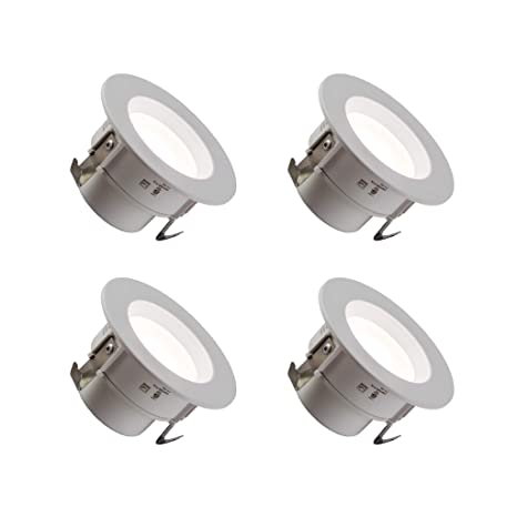 "3"" Inch LED Retrofit Downlight (4 Pack) Dimmable; Wet Location Rated;"