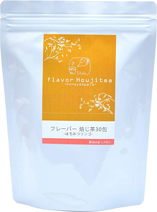 ふくちゃ ブレンドラボ フレーバーティー 国産ほうじ茶 30包 (はちみつりんご)