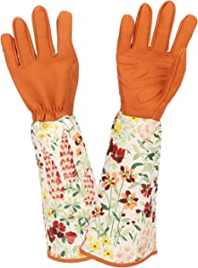 Katfort Rose Pruning Gloves Women Men, Thorn Proof Gardening Gloves with Long Cuff Forearm Protection for Garden