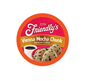 Friendly's Coffee Pods for Keurig K Cup Brewers, Vienna Mocha Chunk, 40Count