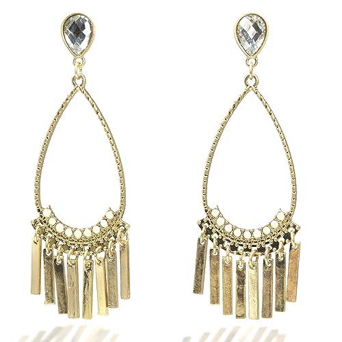 Nice Fashion Jewelry Statement Tassel Flower Vintage Long Women Bohemian Earrings Ethinic Gold Big Dangle Drop Earrings For Women 100% Original Drop Earrings