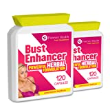 Herbal Bust Enhancer - This Natural Herbal Supplement Will Fill Out Your Boobs WITHOUT The Need For Surgery ! HERBAL BUST ENHANCER is a Safe Natural Alternative to Increasing Your Breast Size ! Containing Herbs and Plants like FENUGREEK That Have Been Used for Centuries To increase the Female Hormone OESTROGEN Which Can Lead To Bigger Breasts ! These Fantastic NEW FORMULA Pill Also Include GINKGO BILOBA and KOREAN GINSENG To Increase Energy And Metabolism - 240 x Breast Enlargement Tablet
