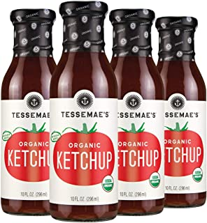 product image for Tessemae's Organic Ketchup, Whole30 Certified, Keto Friendly, USDA Organic, 10 fl oz. bottles (4-Pack)