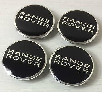 4x Range Rover 63mm Nabenkappen Nabendeckel Radkappen Felgendeckel Chrom Schwarz Auto
