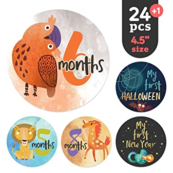 amazon co jp baby monthly stickersと成長チャート シャワーgifts
