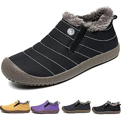BOLOG Herren Damen Winterschuhe Wasserdicht Warm Gefütterte Schneestiefel  Winter Boots Stiefelette Outdoor Winterstiefel Sneakers Größe 35 c3e745c692