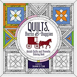 amazoncom quilts barns and buggies adult coloring book amish quilts and proverbs coloring book coloring faith 9780310087595 zondervan books