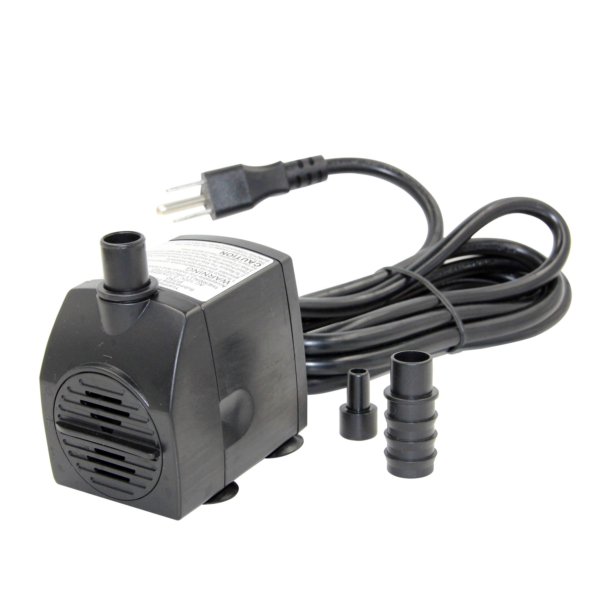 Peaktop P750: 190 GPH/Lift Submersible Pump with 6' Cords for Fountain Aquarium