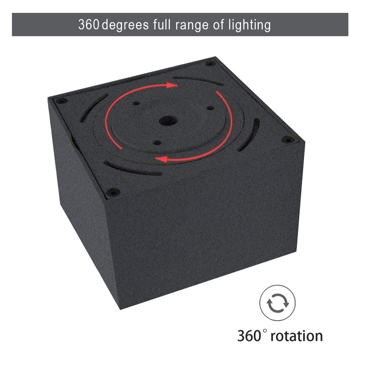 Bianco-4000K Dr.lazy 10W LED Spot light Faretti da soffitto,Faretto Lampada,plafoniera faretto,Lampade da soffitto,Faretto Orientabili,Faretti da muro,10x10x7CM