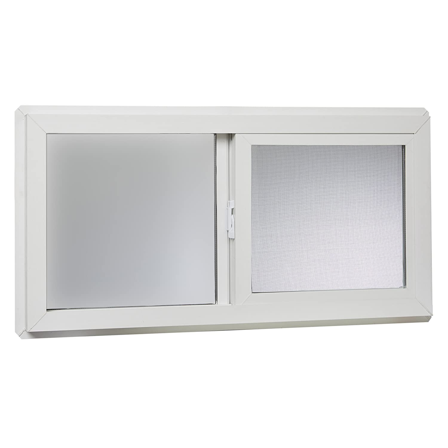 "Park Ridge VBSI3216PR Vinyl Basement Slider Window, 32"" x 16"", White"