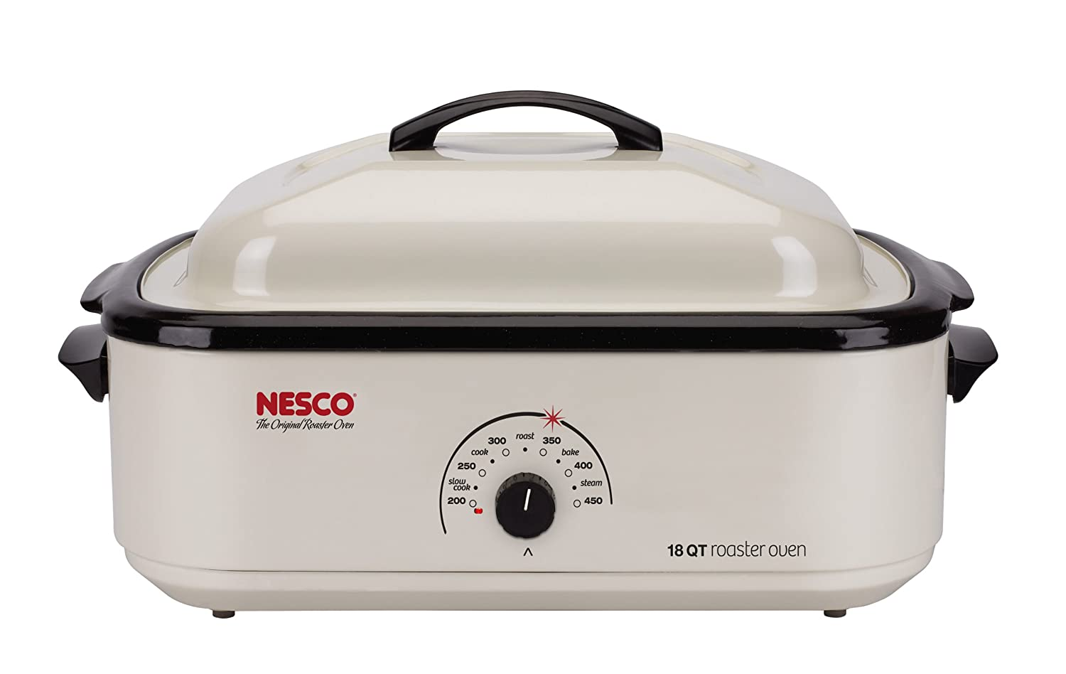 Nesco 4808-14-30 Classic Roaster Oven, 18-Quart, Non-stick Cookwell, Ivory