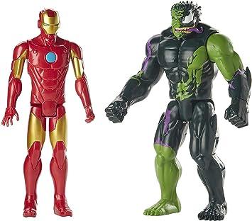2020 Marvel Titan Hero Series Iron Man /& Venomized Hulk 12 Inch Action Figures