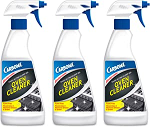 Carbona Oven Cleaner   Grease & Stain Fighting Formula   Odor Free   16.8 Fl Oz Each, 3 Pack