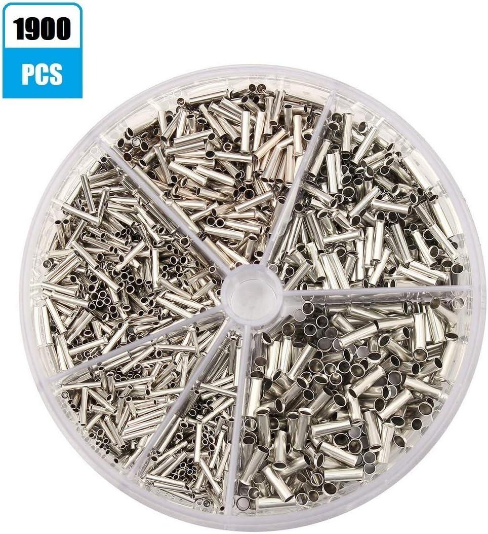 Shentian Aderendhülsen Streudose Unisoliert 0 5 2 5mm 1900 Stück Baumarkt