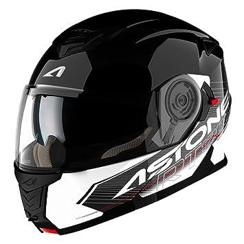 Astone Helmets Touring diadema, color Negro/Blanco, talla L