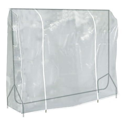 Hangerworld 3 Cubiertas 183cm para Perchero Fundas para Burro Plástico Transparente Cremallera Protección
