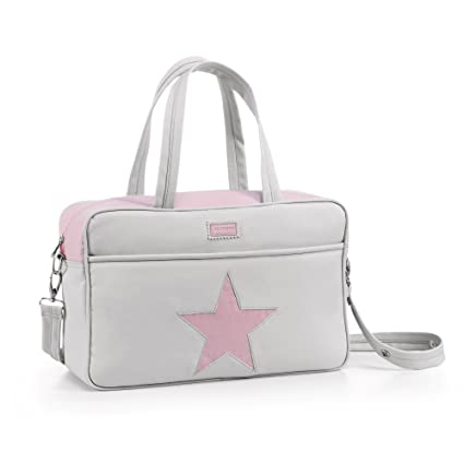 Alondra Bella 1200-782 - Bolso maternidad, color gris/rosa ...