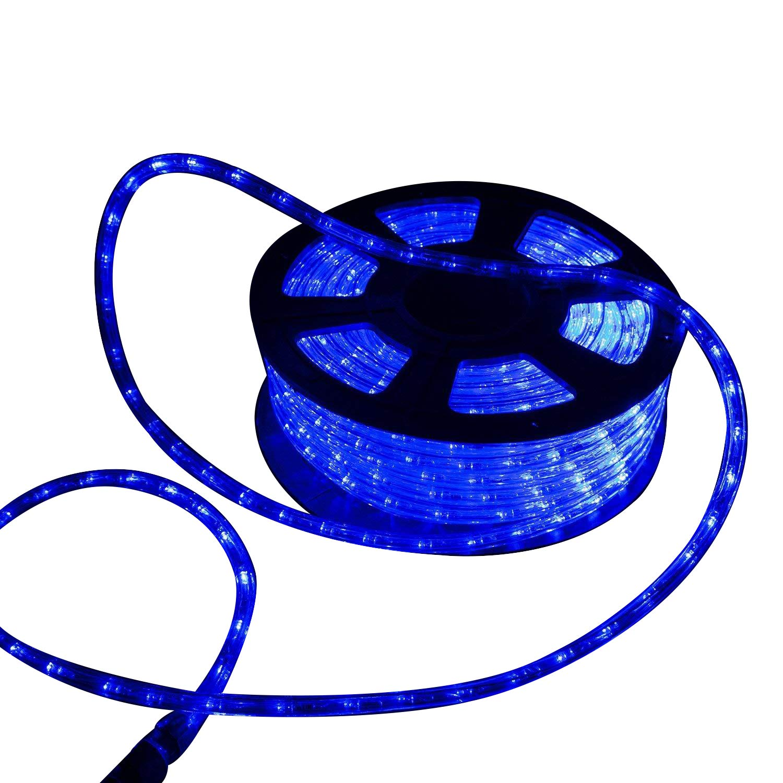 Ainfox 150ft LED Rope Light, LED Strip Lights Outdoor Indoor Rope Lighting Decorative Lighting (blue)