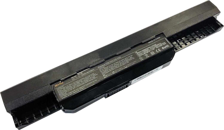 New GHU Laptop Battery for Asus A53 K53 K54 K84 K93 N53 A31-K53 A32-K53 A41-K53 A42-K53 A43EI241SV-SL 10.8V 5200mAh Fit Models A43 A45 A83 A84 K43 K53 P43 P43S P53 X43 X44 X54 X84 X84H 58 WH