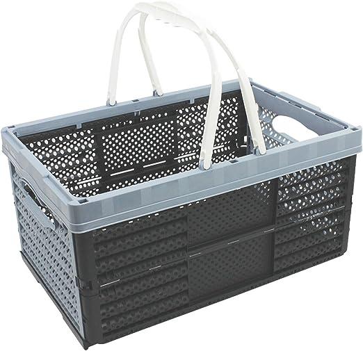 com-four® Caja Plegable con Asas 16l - Caja de Transporte con Asas ...