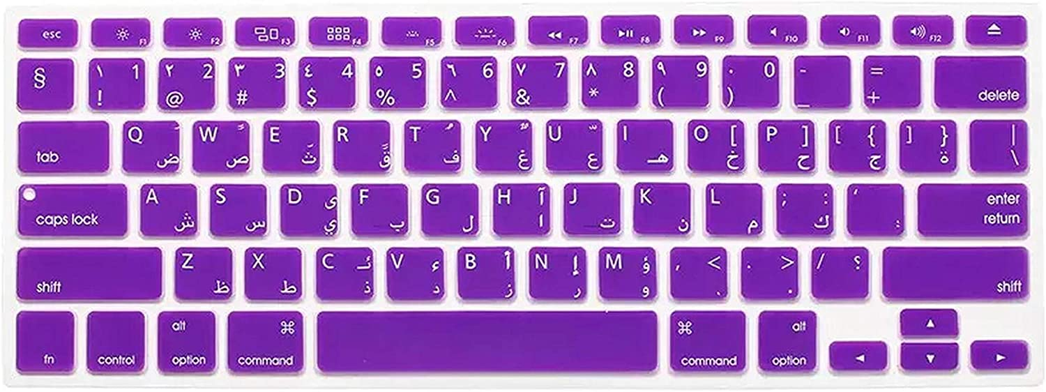 2Pc//Lot Arabic//English Silicone Keyboard Skin Cover for MacBook Air Retina Pro 13 15 17 A1278 A1398 A1466 Us Version-Red