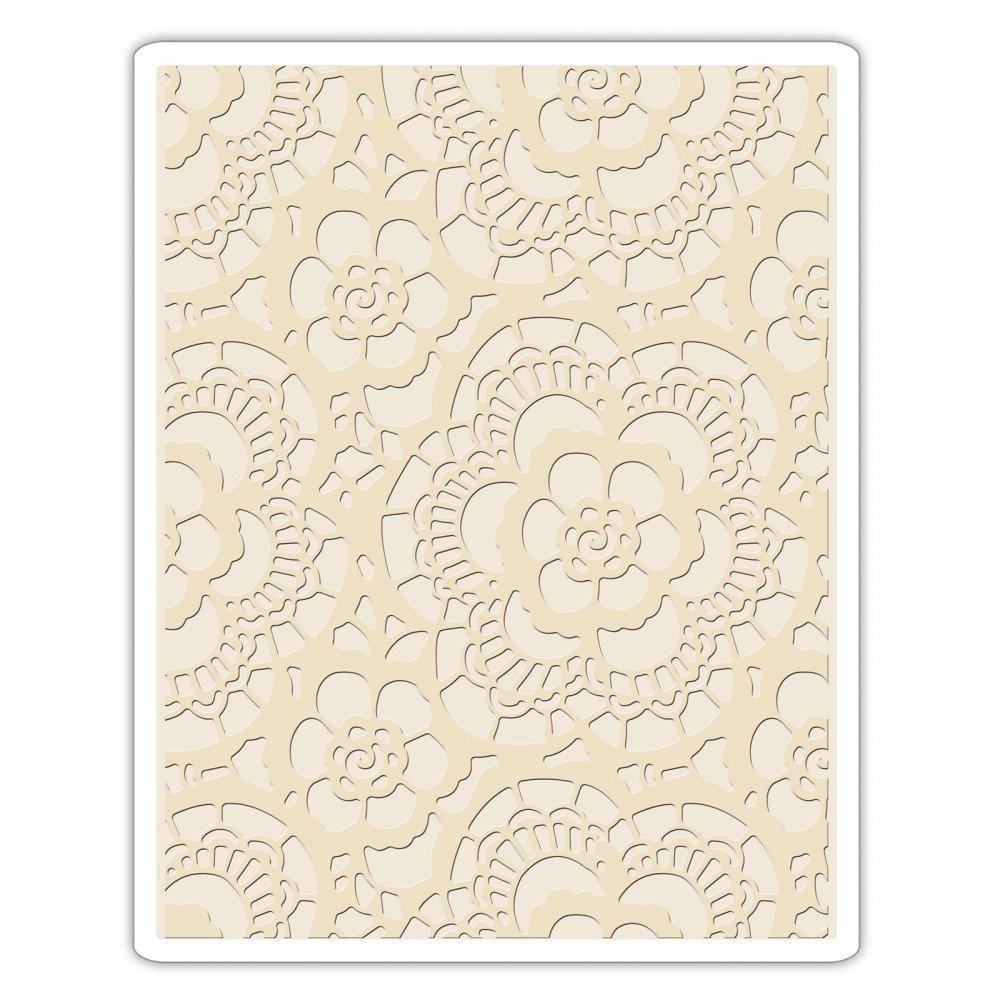 Sizzix 661824 Texture Fades Embossing Folder Lace Ellison