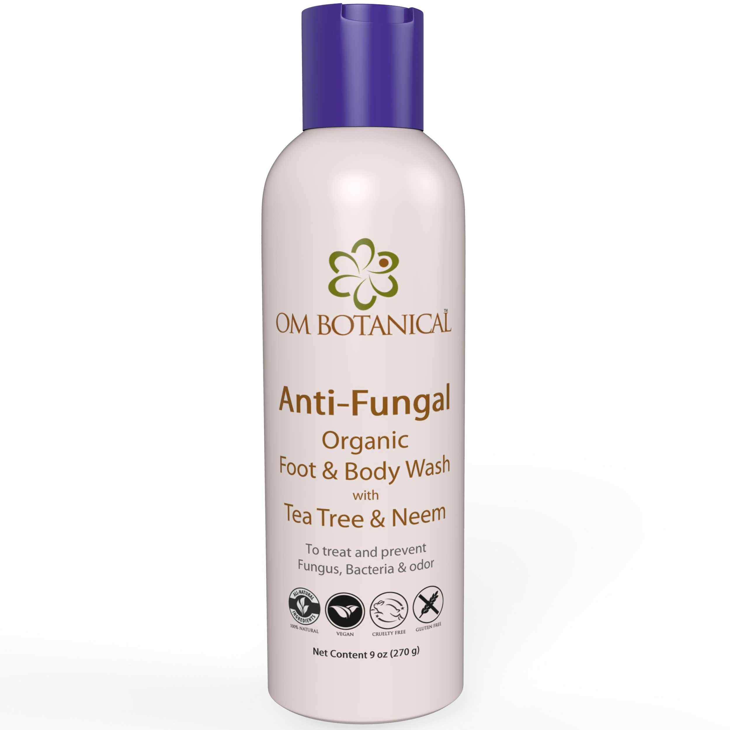 Organic ANTIFUNGAL Full Body Wash and Shampoo for Men, Women w/Neem, Tea Tree Oil. All Natural Soap For Athletes Foot, Body Odor, Nail Fungus, Jock Itch, Yeast Infection, Body Acne, Eczema Treatment