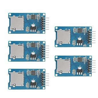 Akozon 5PCS Módulos Lector de tarjetas micro SD, micro SDHC ...