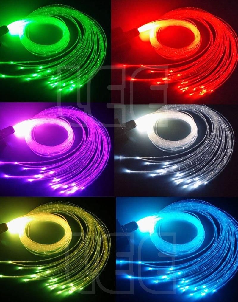 Twinkle Fiber Optic Curtain Lights,16W RGBW CREE LED with 28Key RF Remote Decorative Lamp Kit 300pcs 1.0mm 9.8ft Flash Point Sparkle Fiber