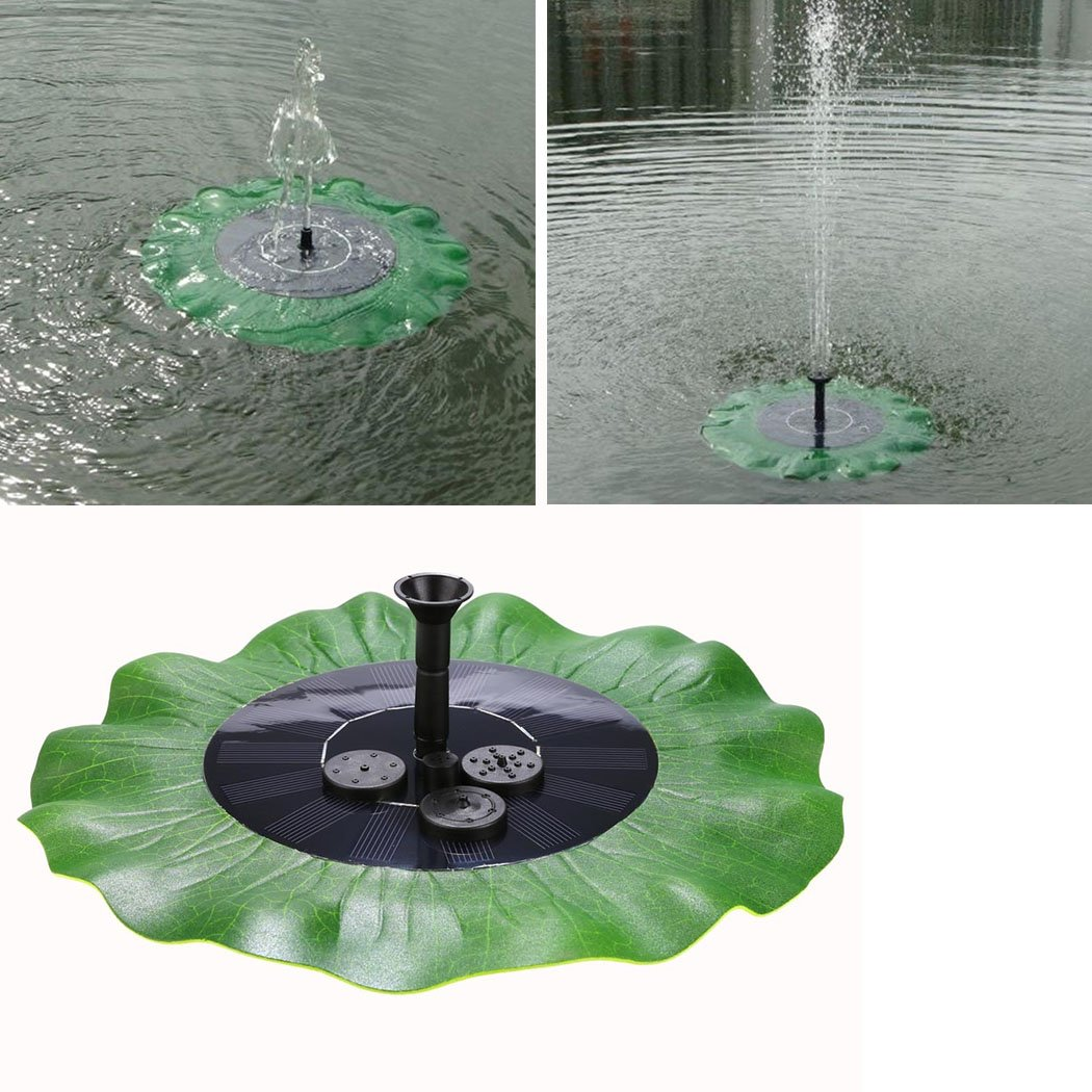 Cooshional 1.4 W Solar Power Water Pump Garden Fountain for Pool Pond Submersible Pump for Water Cycle - Lotus leaf [UK STOCK]