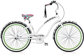 Electra Bike Bicicleta Cruiser Beach Cruiser Blanc et Noir 3i ladies ...