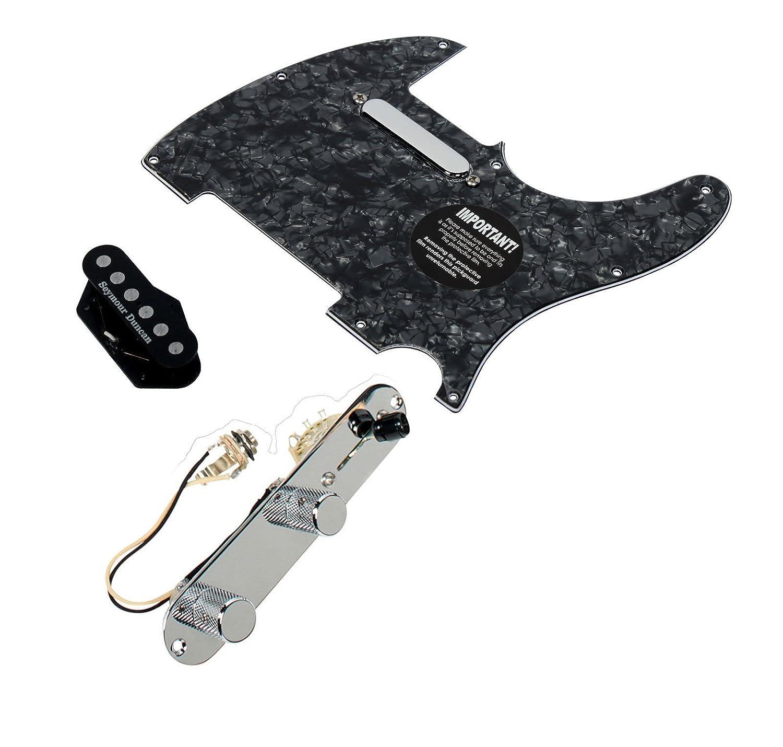 Fender Telecaster Loaded Pickguard Seymour Duncan Quarter Pound Pickups T4W WH