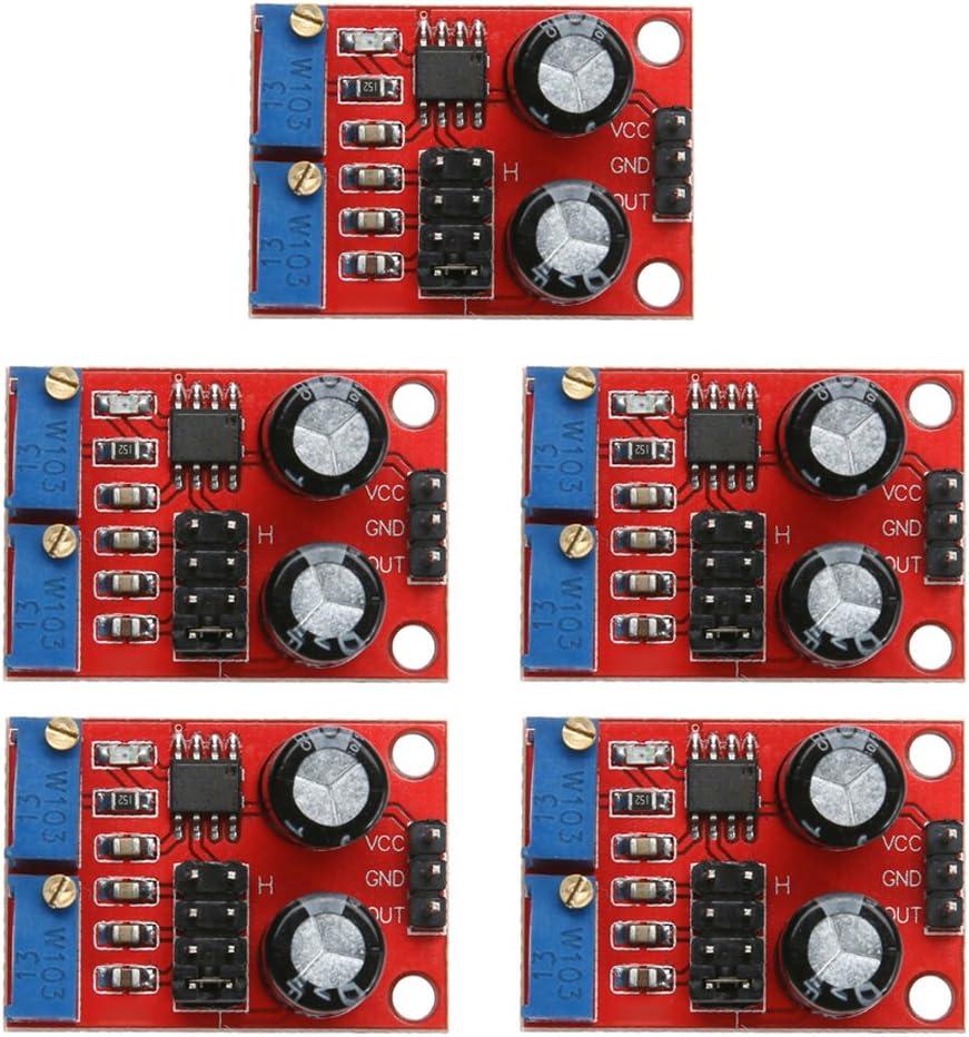 frecuencia de pulso ciclo ajustable de amazingdeal365 M/ódulo generador de se/ñal de onda NE555