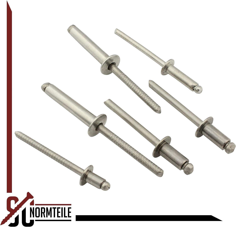 - SC7337 - DIN 7337 Form A 3,2x12 mm - Edelstahl A2 Popnieten 25 St/ück Blindnieten mit Flachkopf SC-Normteile V2A